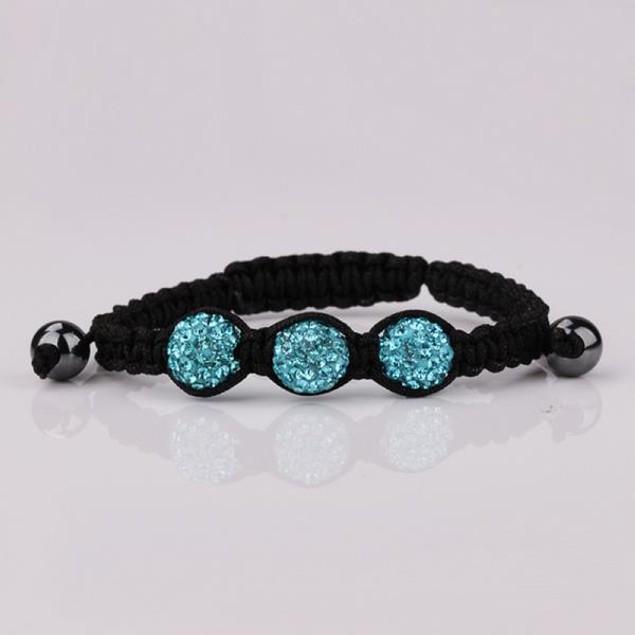 Austrian Crystal Style Bracelet - Dark Sapphire