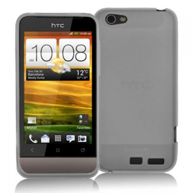 HTC One V TPU Rubber Case Cover