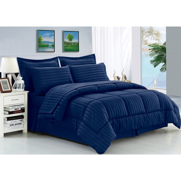 8-Piece: Soft & Cozy Dobby Hypoallergenic Bedding