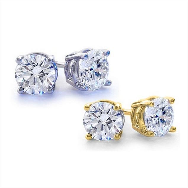 2-Pack 2.00 CTTW Genuine White Topaz Stud Earrings