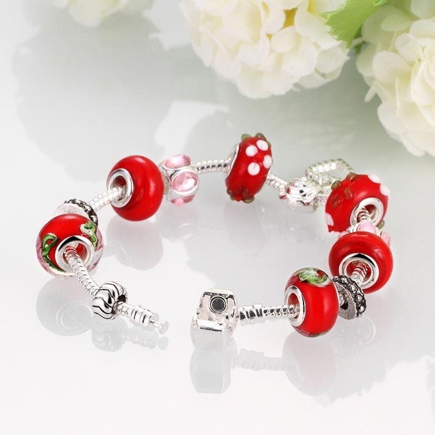 Red Fusion Designer Inspired Bracelet