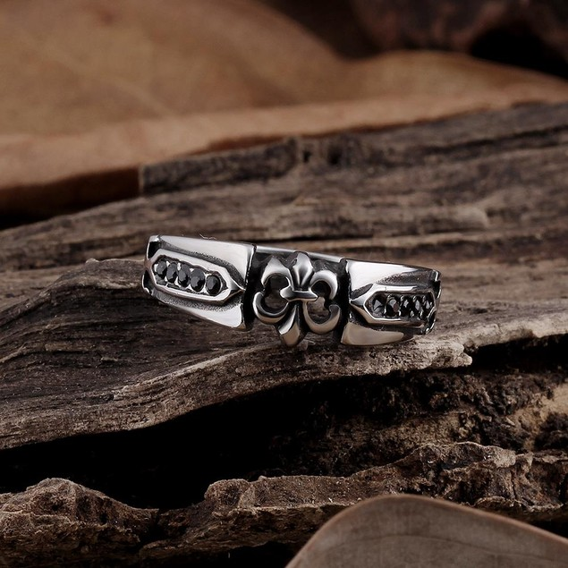 Stainless Steel Rose Petals Ring