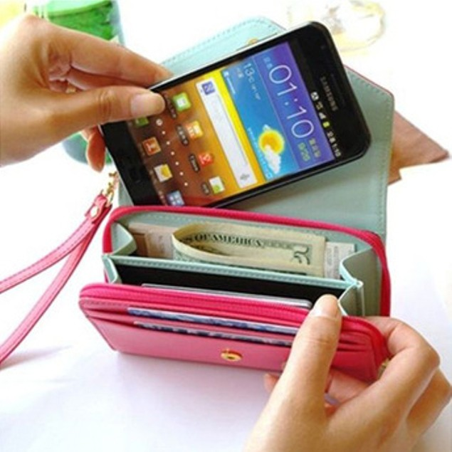 Crown Smart Phone Wallet Clutch