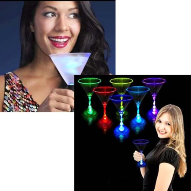2-Pack LED Color-Changing Cocktail Glasses