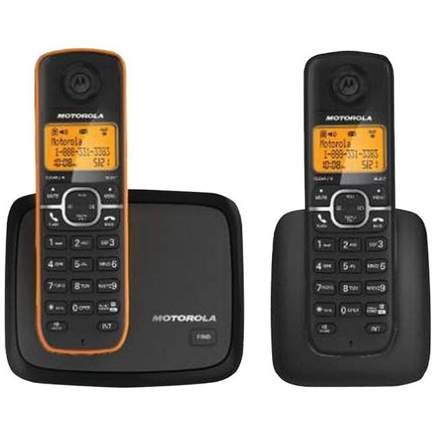 Motorola L602M DECT 6.0 Digital 2 Handset Cordless Phone with Caller ID