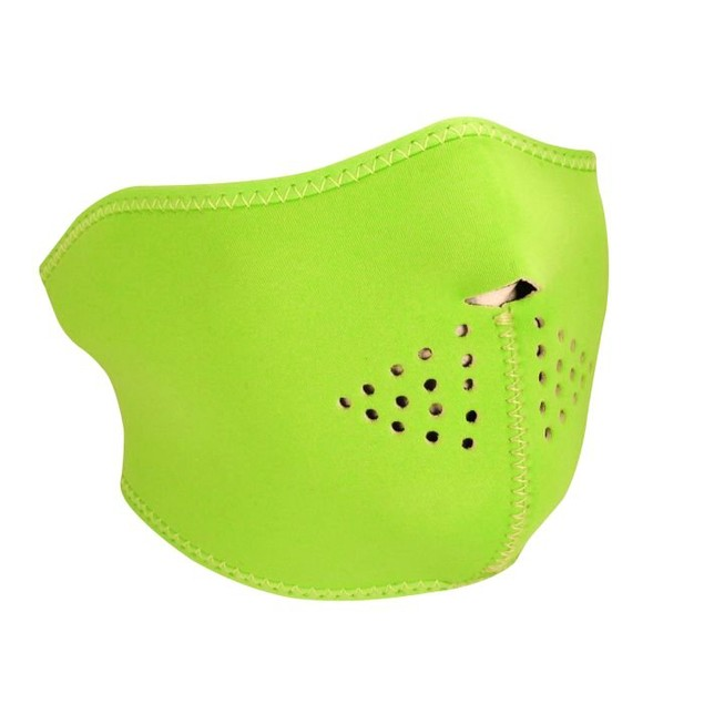 Neoprene 1/2 Mask - High-Visibility Green