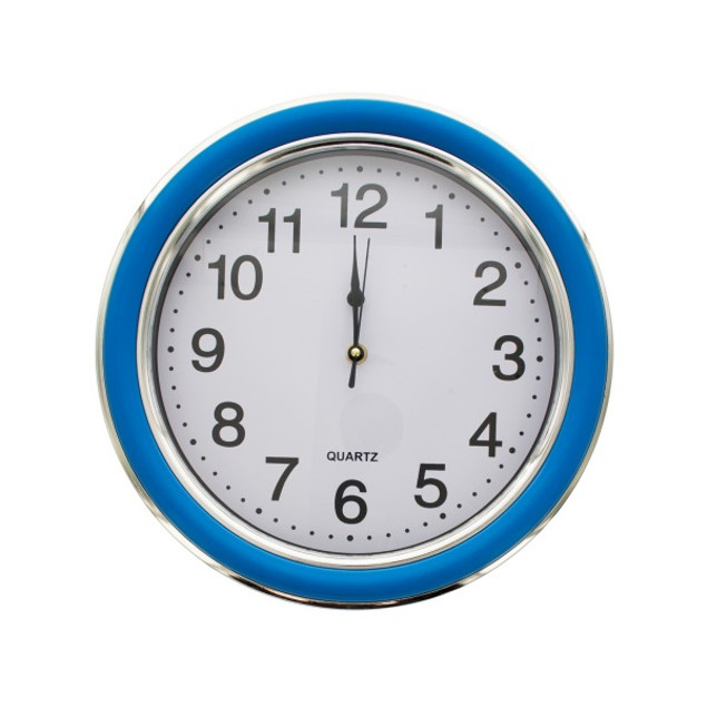 12.5 Round  Blue/Silver Wall Clock