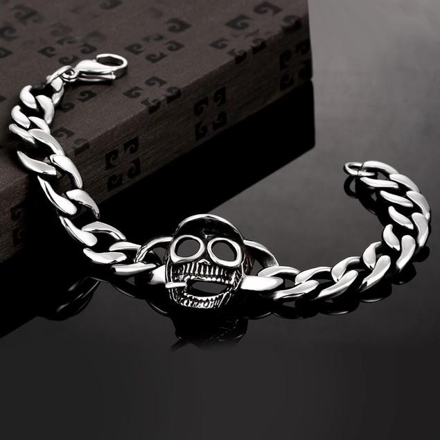 Skull Cap Stainless Steel Bracelet