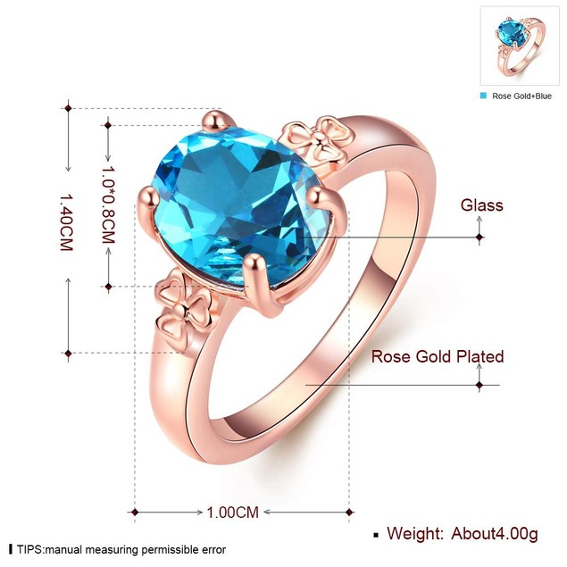 Rose Gold Plated Flower Ring