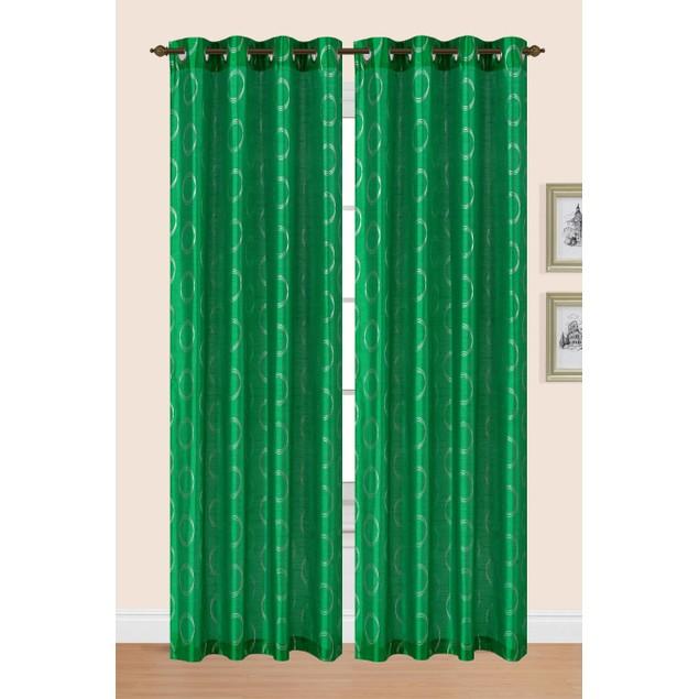 2-Piece Set: Sonia Metallic Grommet Curtain Panels