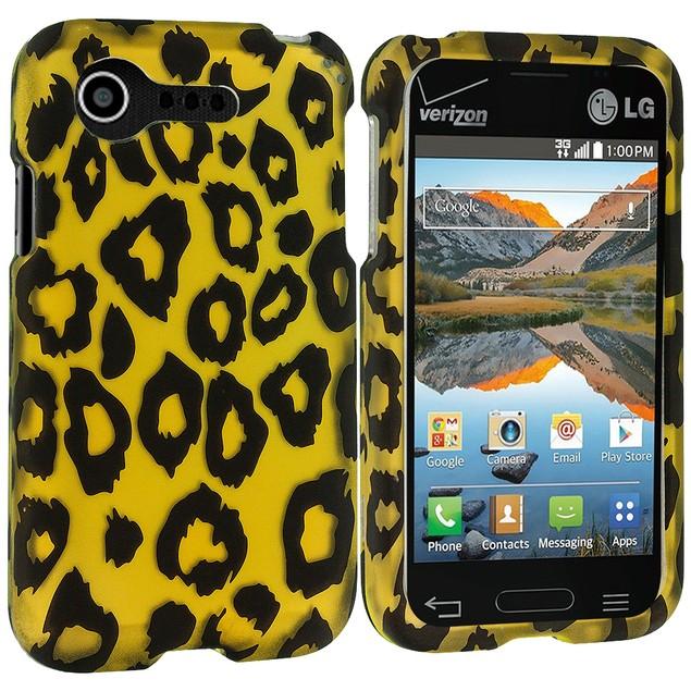 LG Optimus Zone 2 Hard Rubberized Design Case Cover