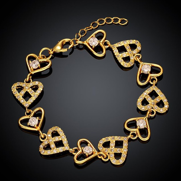 Gold Plated Real Love is Everywhere Bracelet