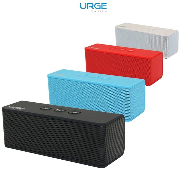 Urge Basics Soundbrick Bluetooth Stereo Speaker with Built-in Mic - 4 Color Options