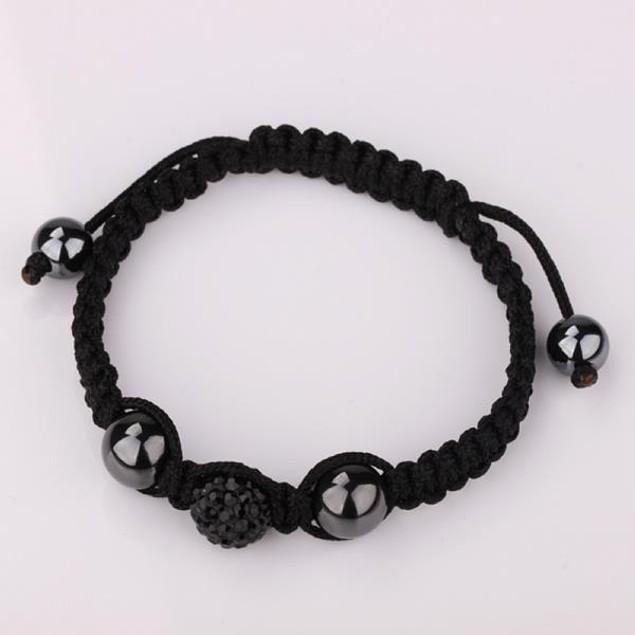 80's Glam Austrian Crystal Bracelet - Onyx