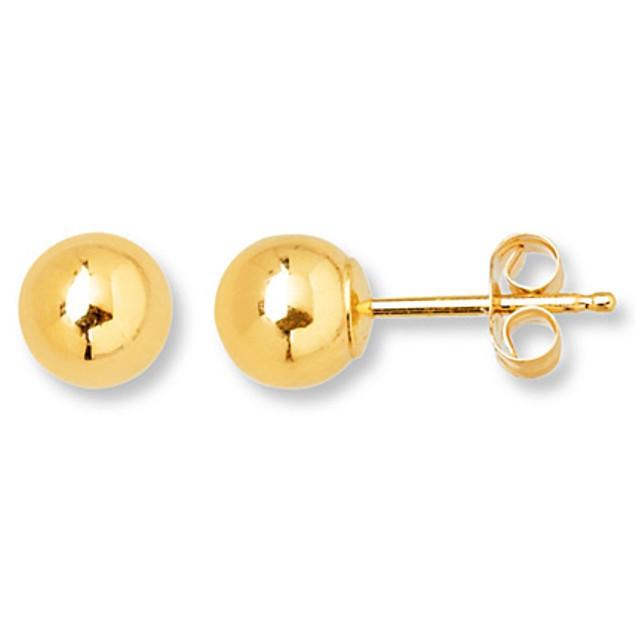 14-Karat Yellow Plumb Gold Stud Earrings