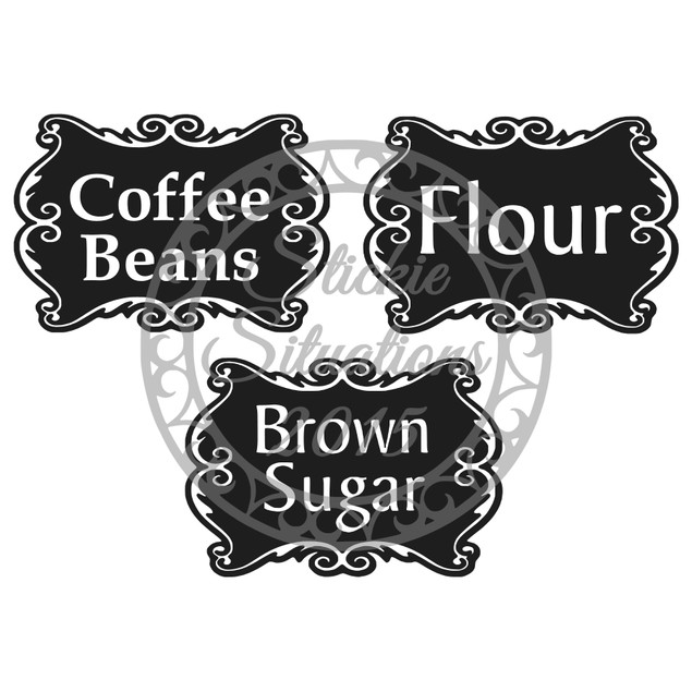 Personalized Canister Labels - Set of 4