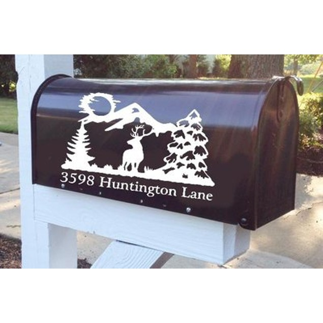 Mountain Buck Mailbox Decal