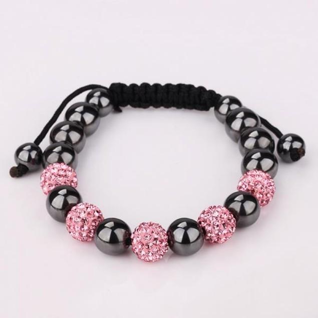 Coral & Onyx Beads 80's Glam Bracelet