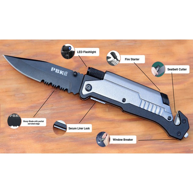 5 in 1 Tactical Survival Pocket Knife