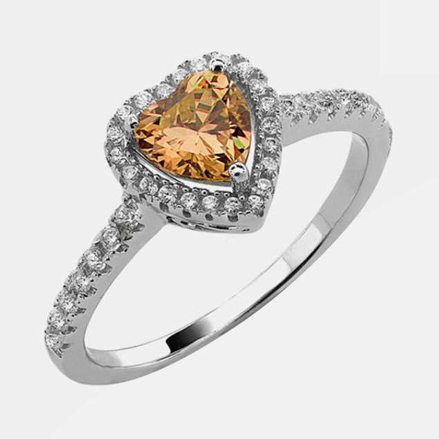 .925 Sterling Silver Birthstone Ring - November