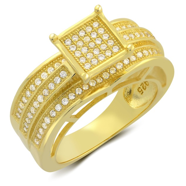 2pc Gold Plated Micro Setting Ring