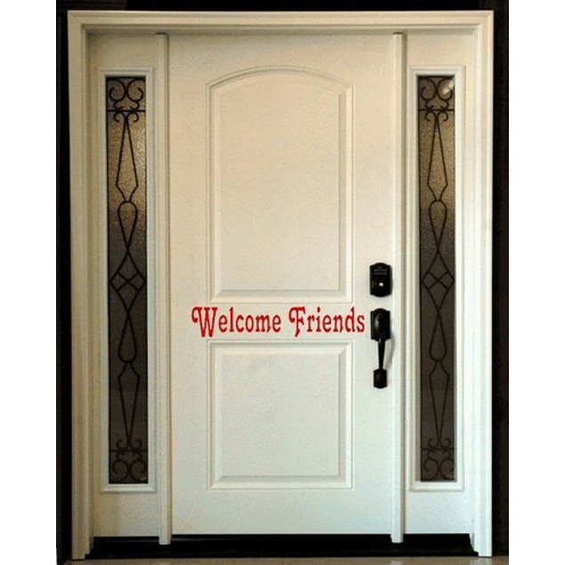Welcome Friends Door Decal