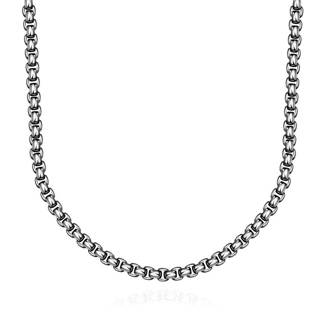 Alpha Steel Thin Cut Stainless Steel Necklace