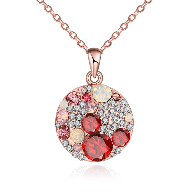 Gold Plated Multi-Stone Fusion Necklace
