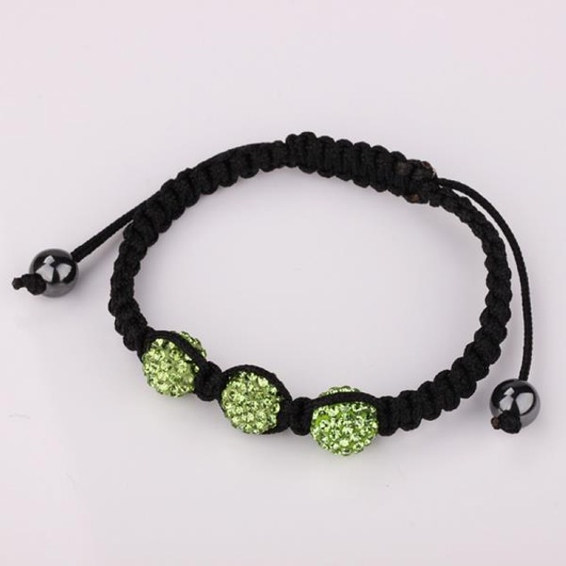 Austrian Crystal Style Bracelet - Light Emerald