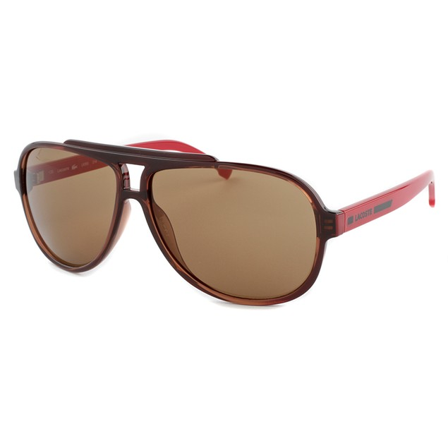 Lacoste Aviator Sunglasses - Burgundy & Red