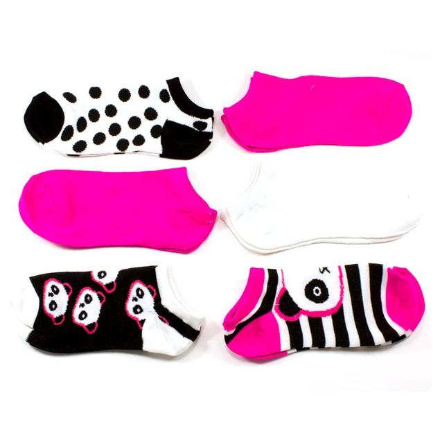 Rampage Women's No Show Socks Assorted Panda - 6-Pack