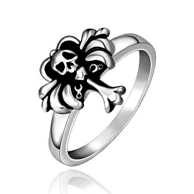 Mini Cross Skull Stainless Steel Ring