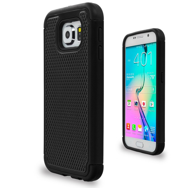 Samsung Galaxy S6 Hybrid Rugged Armor Protector Hard Case Cover