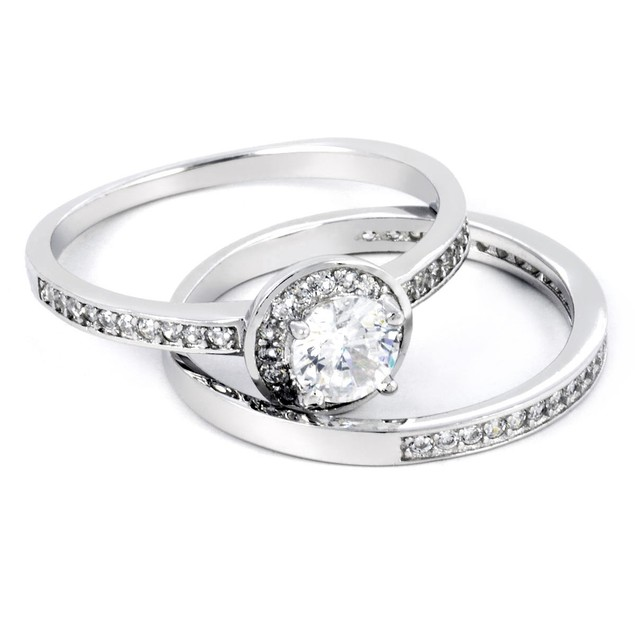 2pc Round Micro Setting Ring
