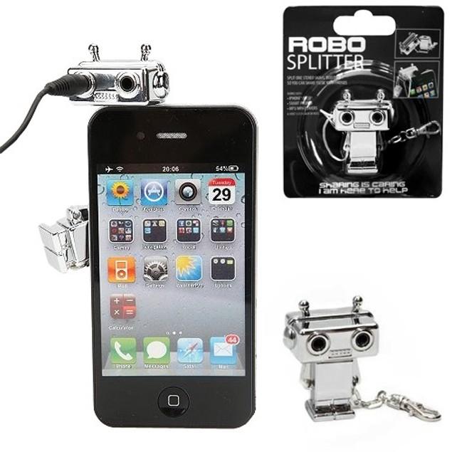 Robo Splitter - 3.5mm Jack Splitter - Share Your Favorite Tunes