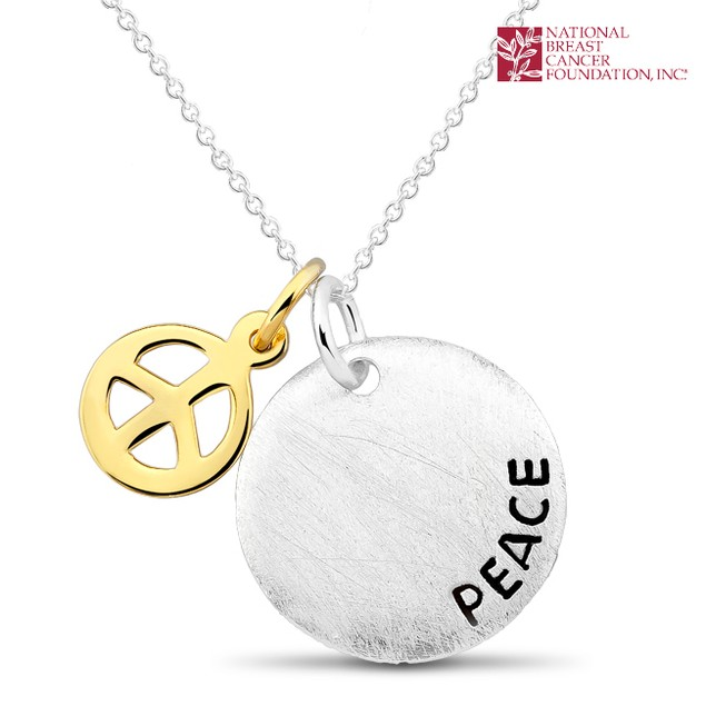 National Breast Cancer Foundation Inspirational Jewelry - Sterling Silver Peace Pendant