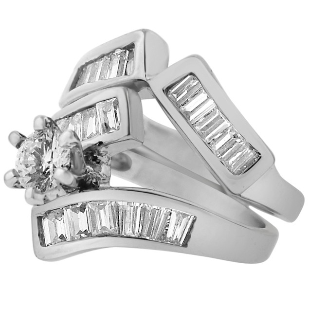 2-Piece Set: Cubic Zirconia Rings - Lisa Ring