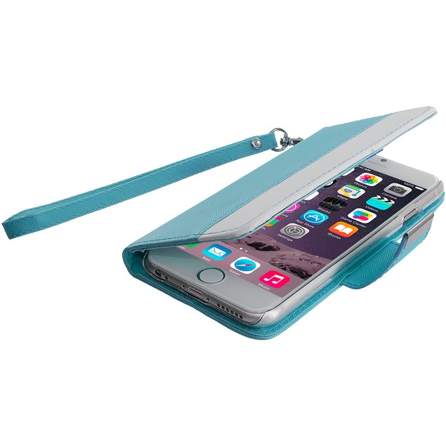 Apple iPhone 6 (4.7) Wallet Pouch Metal Flap Case Cover