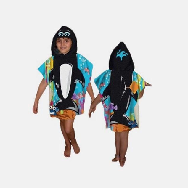 Kids Hooded Towel - Whale