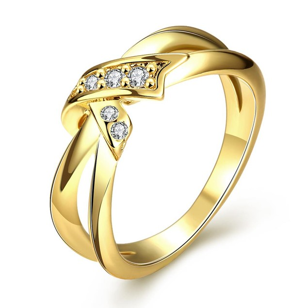 Gold Plated Bow-Tie Ring