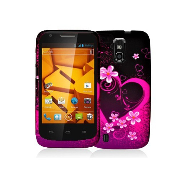 ZTE Force N9100 Hard Rubberized Design Case Cover