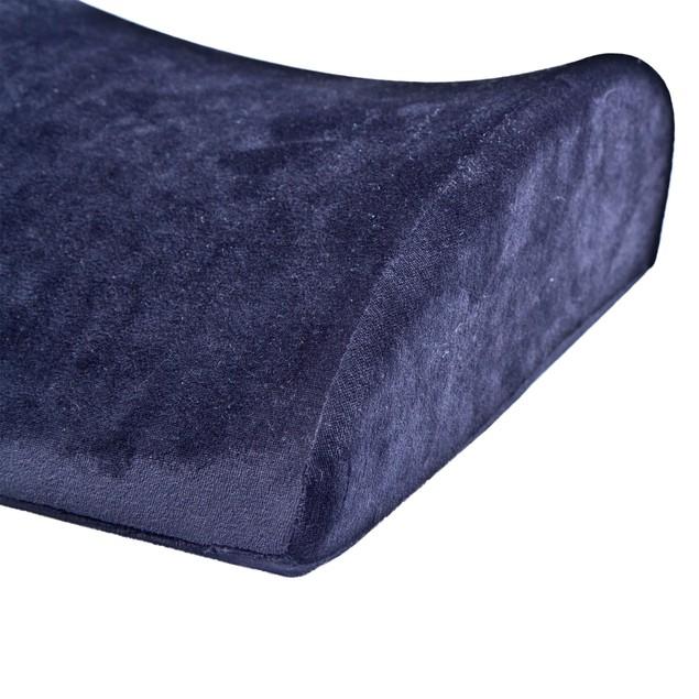 Remedy Natural Pedic Lumbar Memory Foam Support Cushion Pillow