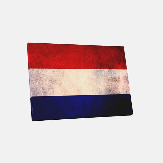 Vintage Netherlands Flag Canvas Print