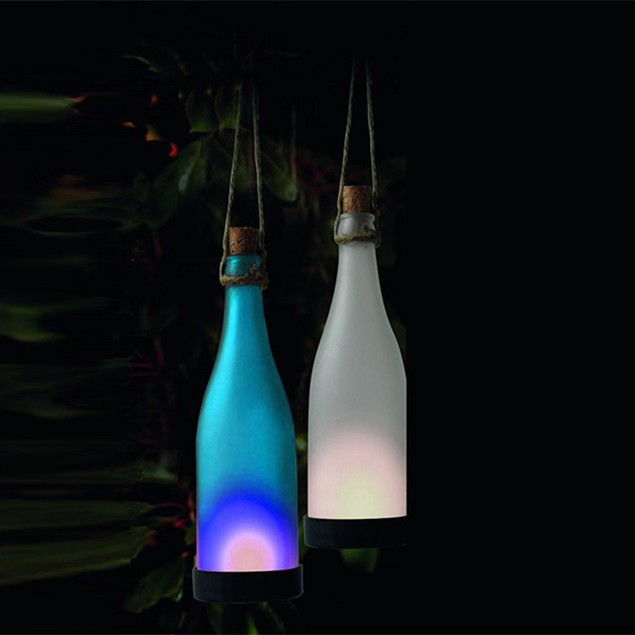 Two Elephants 2-Piece Set: Boho Chic Solar Bottle Lights