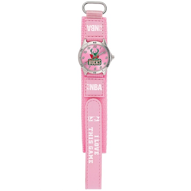 Gametime NBA Future Star Youth Pink Watch  - Milwaukee Bucs