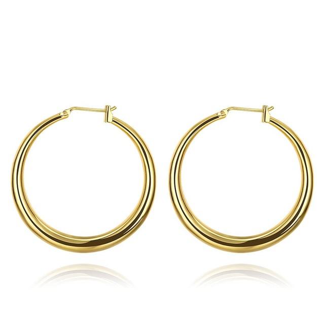 Gold Plated Skinny Tube Hoop Earrings