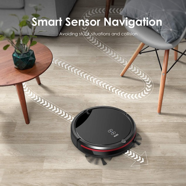 Robot Vacuum, Robotic Vacuum Cleaner with 360° Smart Sensor Protection