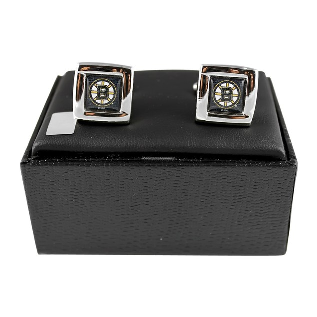 NHL Sports Team Logo Square Cufflinks Gift Box Set