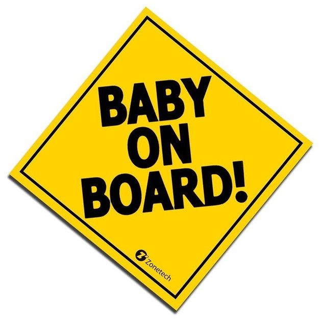 "Zone Tech 7"" Baby On Board Vehicle Car Safety Bumper Decal Sticker Sign"
