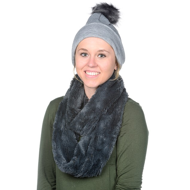 Posh Plush Winter Hat/Scarf Set with FREE Keychain